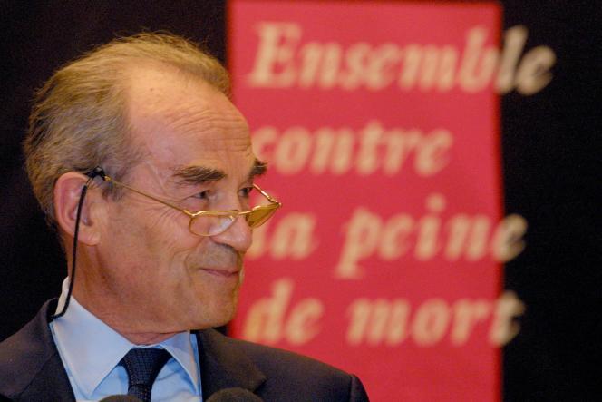 L'ancien avocat et ministre de la justice Robert Badinter, auteur en 1977 d'un puissant réquisitoire contre la peine de mort.