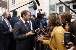 Emmanuel Macron, au musée Marcel-Proust, à Illiers-Combray (Eure-et-Loir), le 15septembre 2021.