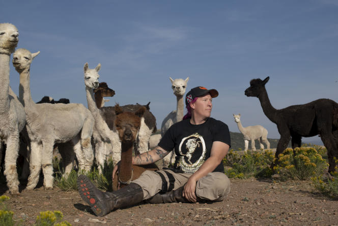 Penny Logue, fondatrice du Tenacious Unicorn Ranchà Westcliffe (Colorado), le 8 septembre 2021.