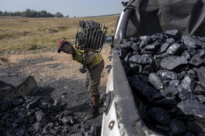 Une mine de charbon désaffectée, à Ermelo, en Afrique du Sud, le 21 avril 2021.