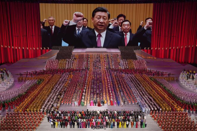 Célébration du 100e anniversaire de la création du Parti communiste chinois, le 28 juin 2021, à Pékin.