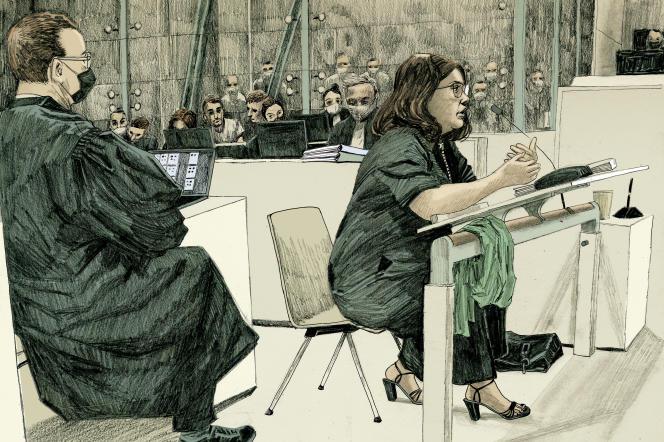 Témoignage de la juge d'instruction belge Isabelle Panou, au procès des attentats du 13-Novembre, à Paris, le 14 septembre 2021.