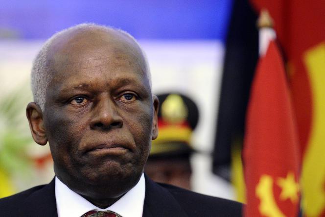 L'ancien président angolais José Eduardo dos Santos à Luanda, en août 2011.