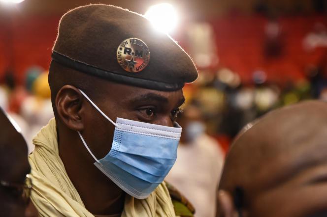 Colonel Sadio Camara, member of the junta and minister of defense, in Bamako on June 7, 2021.