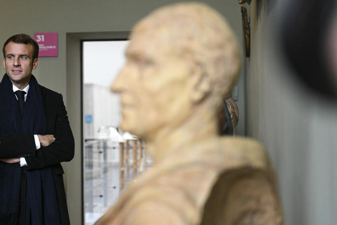 M. Macron aux Musée des Beaux-Arts Museum de Besançon, en novembre 2018.
