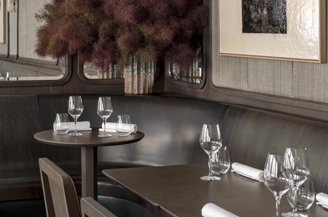L'intérieur du restaurant Cèna, à Paris, dans le 8e arrondissement.
