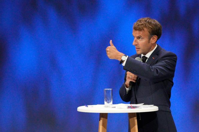 Le président Emmanuel Macron à Nice, le 14 septembre 2021.