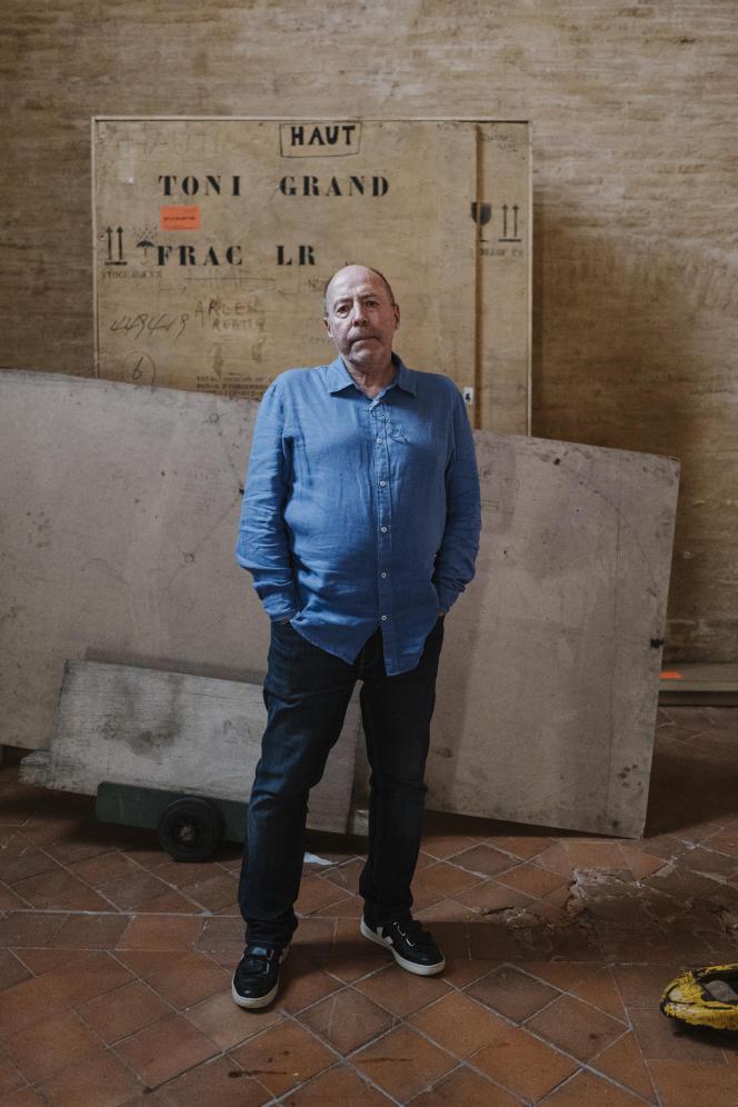 Christian Bernard, directeur artistique du Printemps de septembre, «Sur les cendres de l'hacienda», au couvent des Jacobins, à Toulouse, le 15septembre.