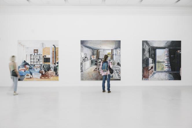 Série « Images de l'intérieur », d'Yves Bélorgey, exposée à La Fabrique, à Toulouse, dans le cadre du festival Le Printemps de septembre.