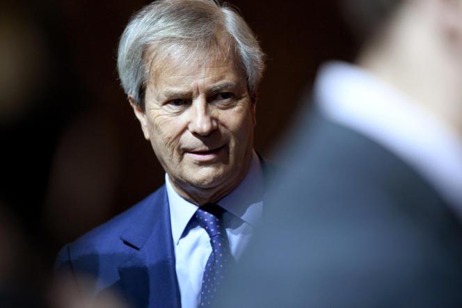 Vincent Bolloré, lors de l'assemblée générale du groupe Vivendi, à Paris, en avril 2018.