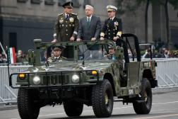 Le président mexicain Andres Manuel Lopez Obrador lors d'une parade, à Mexico, le 16septembre 2021.