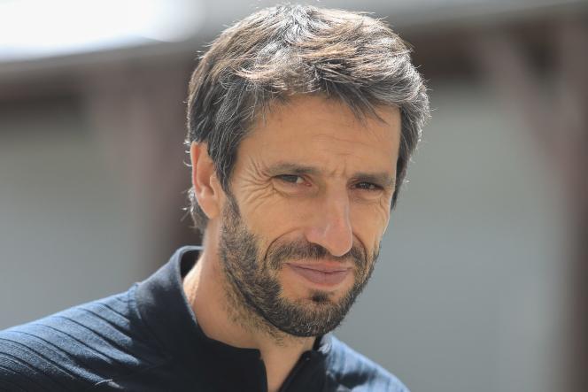Tony Estanguet, le 18 mai 2021 à Auray, dans le Morbihan.