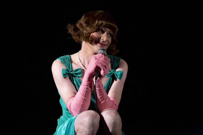 Marc Fraize dans «Madame Fraize», spectacle mis en scène par Papy (Alain Degois), au Théâtre du Rond-Point, à Paris, le 29 octobre 2020.