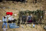 Un campement de fortune de migrants installés sous le pont international de Del Rio, aux Etats-Unis, vendredi 17 septembre 2021.