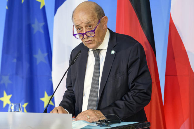 Jean-Yves Le Drian en Allemagne, le 17 septembre 2021.