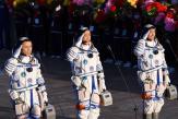 Les premiers astronautes delastation spatiale chinoise sont revenus sur Terre