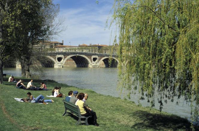 Prairie des filtres, au bord de la Garonne, à Toulouse.