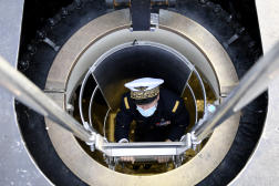 Un officier de la marine française dans le sous-marin nucléaire« Barracuda», le 6 novembre 2020.