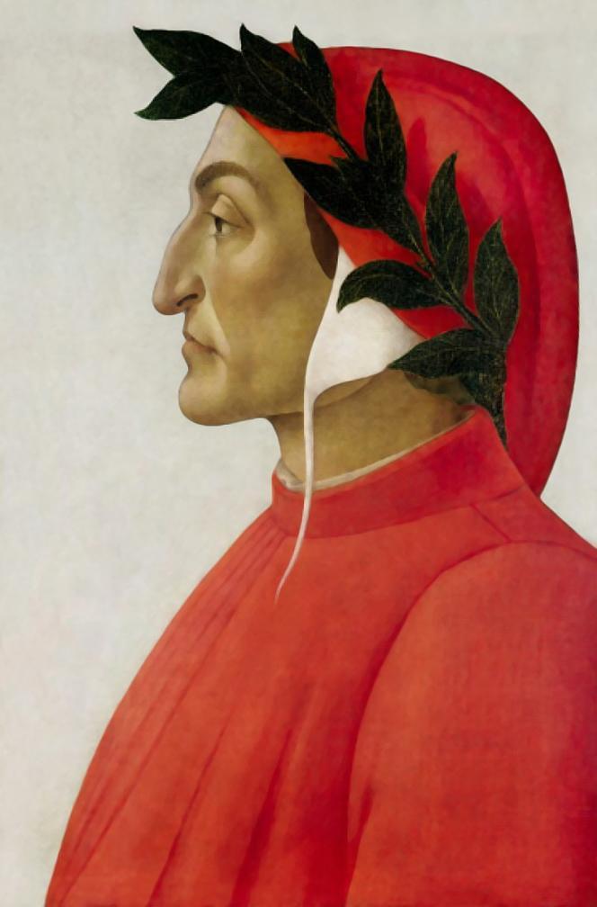 Portrait deDante Alighieri (1265-1321) par Botticelli, 1495.