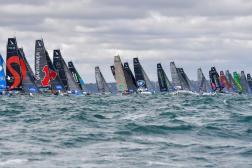 La flotte de la Solitaire du Figaro lors de l'édition 2020.