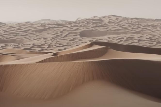 Les déserts de la planète Arrakis, tels qu'aperçus dans la bande-annonce du film de Denis Villeneuve.