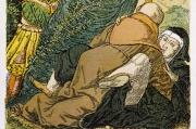 Un moine et une nonne faisant l'amour. D'après une gravure du XVIe siècle..