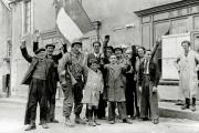 Une scène de la Libération, en 1944.