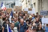 Des manifestants contre le passe sanitaire, à Nantes, samedi 18septembre2021.