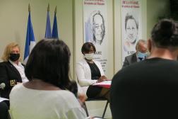 La ministre déléguée chargée de l'égalité entre les femmes et les hommes, en déplacement à Creil (Oise), vendredi 17 septembre.