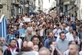 Manifestation contre le passe sanitaire, le 18 septembre 2021, à Nantes.
