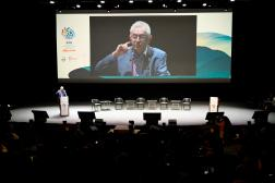 Bruno Oberle, directeur général de l'UICN, lors du congrès à Marseille, le 3 septembre 2021.