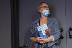 militants pendant le meeting d'Eric Zemmour au Palais des congrès-Acropolis, Nice, le 18 septembre 2021
