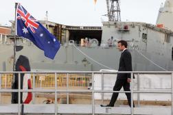 Le président Emmanuel Macron, à Sydney, en Australie, le 2 mai 2018.