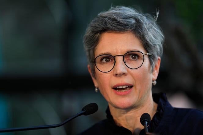La candidate à la primaire d'Europe Ecologie Les Verts, Sandrine Rousseau, le 19 septembre.