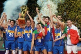 L'équipe d'Italie a remporté l'Euro de volley face à la Slovénie, dimanche 19 septembre 2021, à Katowice, en Pologne.