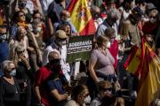 Manifestation contre la hausse du prix de l'électricité, à Madrid, le 19septembre 2021.