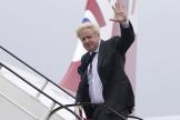 Boris Johnson, avant son départ pour New York, dimanche 19 septembre 2021.