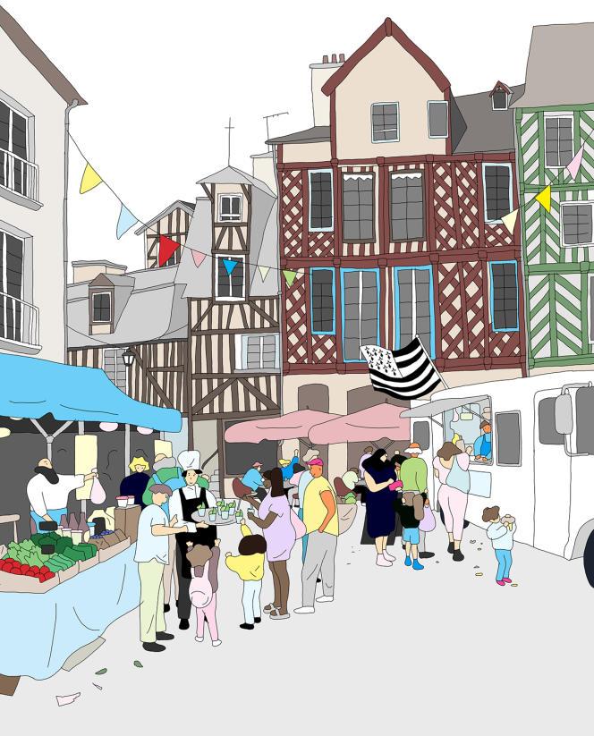 La première édition de Goûts de Rennes, un festival culinaire déambulatoire qui souhaite mettre en scène et valoriser les acteurs et représentants d'une forme de cuisine plus «humaine et durable».