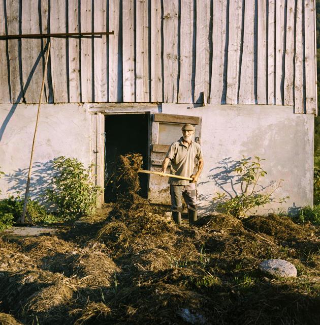 Kaspanaze Simma dans sa ferme à Andelsbuch, dans le Vorarlberg.