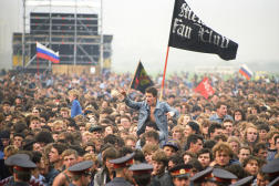 Lors du concert de Touchino, près de Moscou, le 28 septembre 1991.