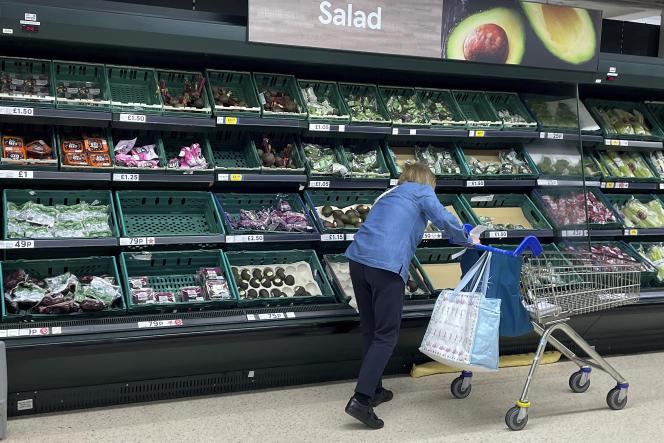 Dans un supermarché de Londres, le 20 septembre 2021.