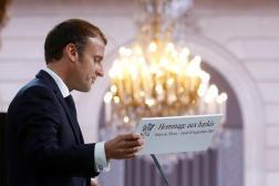 Le président de la République, Emmanuel Macron, le 20 septembre à l'Elysée.