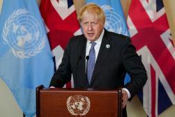 Boris Johnson, le premier ministre britannique, à l'ONU, à New York, le 20 septembre 2021.