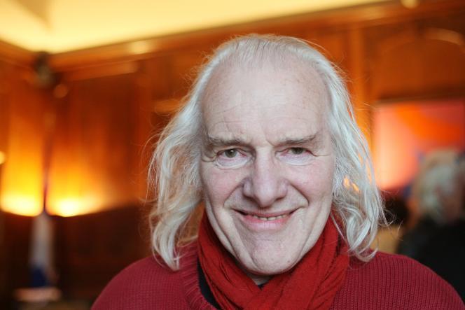 Le chanteur Julos Beaucarne, en mars 2008, à Paris.