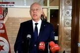 Capture d'écran de l'intervention audiovisuelle du président tunisien Kaïs Saïed à Sidi Bouzid, le 20 septembre 2021.