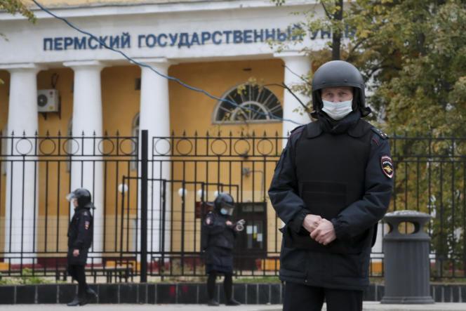 Un homme a ouvert le feu dans l'université de Perm, en Russie, lundi 20 septembre 2021.