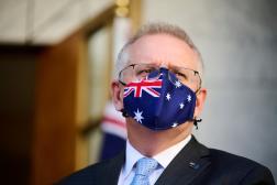 Scott Morrison au Parlement austalien, à Canberra, le 17août.