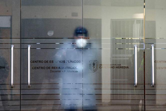 Au centre d'études cliniques de l'université Cayetano Heredia, à Lima, au Pérou, en septembre 2020.