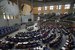 À l'intérieur du Bundestag, à Berlin, en 2013.