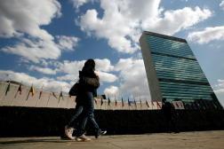 Le siège des Nations unies à New York, le 24 mars 2008.